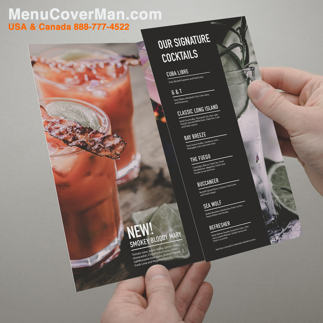 Tearproof Menus With Your Menu Imprinted Right On It.