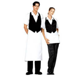 Restaurant aprons for waiters, waitresses and waitstaff.