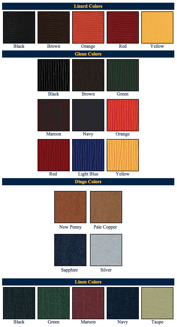 Bistro color swatches for restaurant magnetic menu boards.