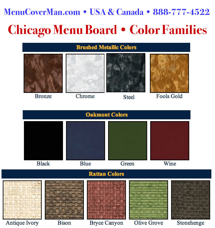 Chicago menu board colors.