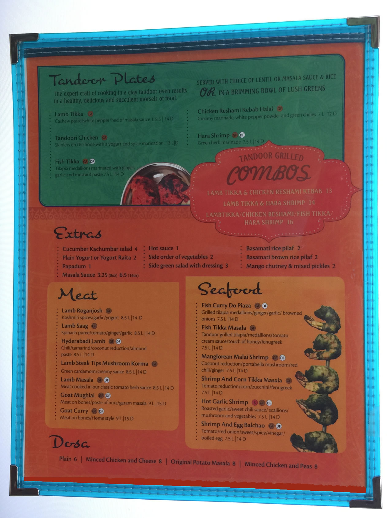 Fiesta translucent edge mexican style menu covers.
