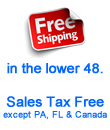 Free shipping menu covers, no sales tax.