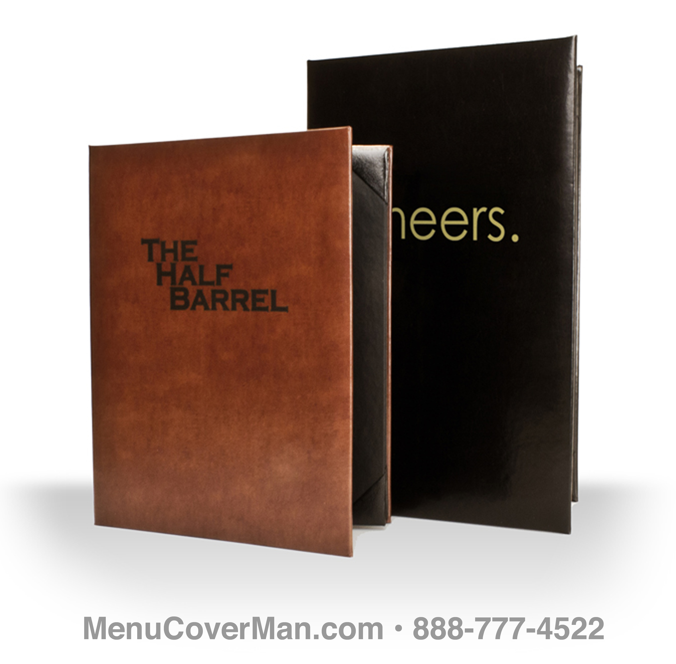 Genuine Leather Menu Covers Frontspiece.