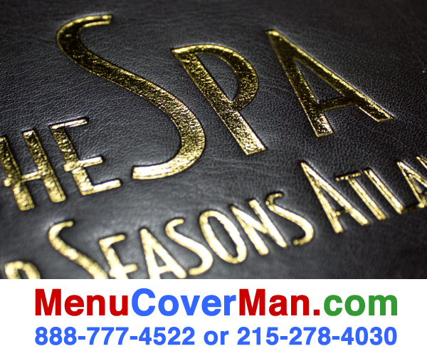 Leather menu covers high quality imprinting process- made in the USA.