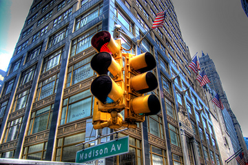 Madison Avenue in New York City.
