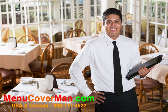 See Menucoverman menu covers in use in a real restaurant.