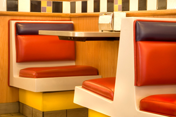 Modern diner retro seating.