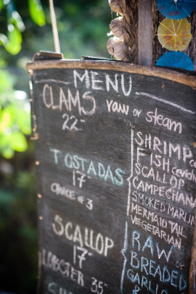 outdoor restaurant menu