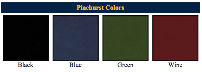 Pinehurtst menu cover finishes.