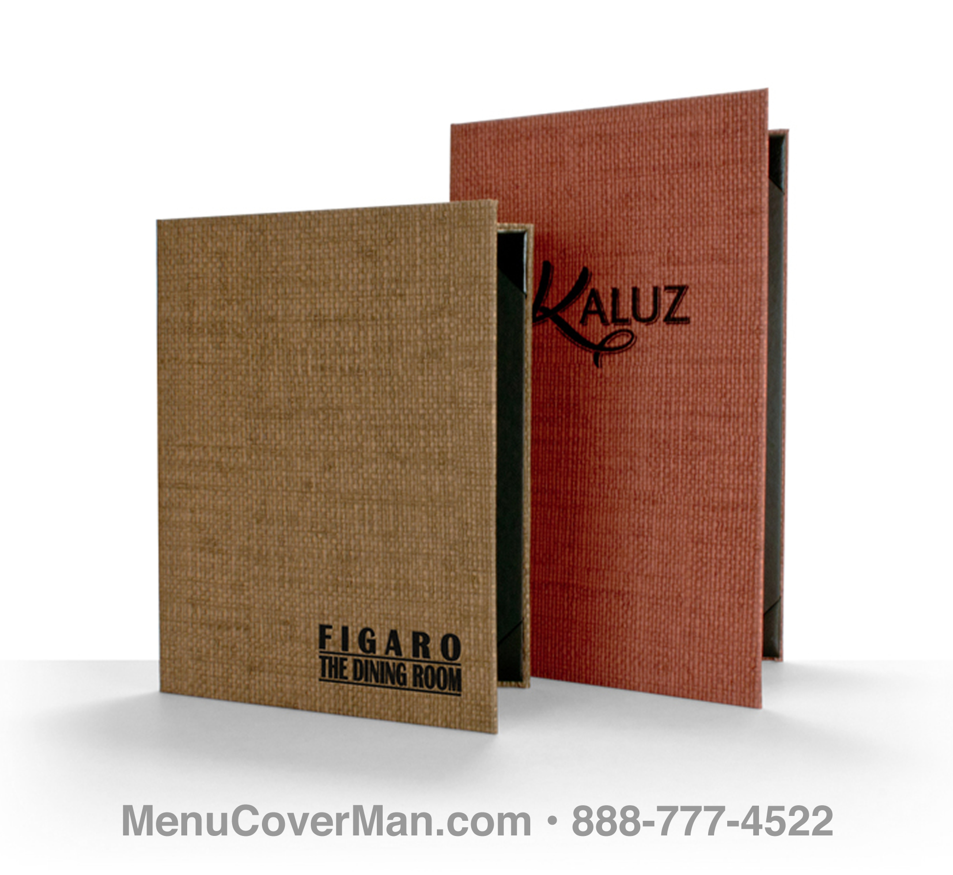 Rattan Menu Covers Frontspiece.