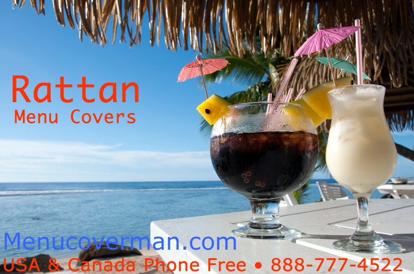Rattan Pan Asian Style Menu Covers will look terrific in your restaurant.
