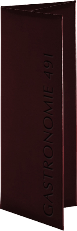 Real leather custom imprinted menu covers from Menucoverman.com
