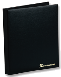Restaurant reservations book.