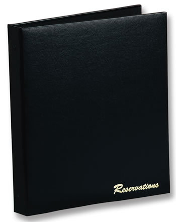 Restaurant reservations book from Menucoverman.com