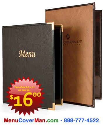 Menu covers for restaurants.