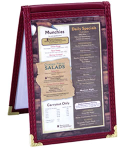 Sewn Edge Table Tents for Restaurants.