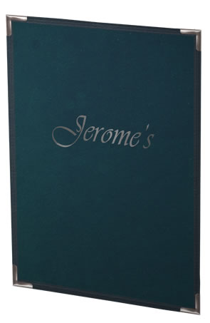Menucoverman's Sewn Pajco Menu Covers with your custom imprint look professional and elegant.