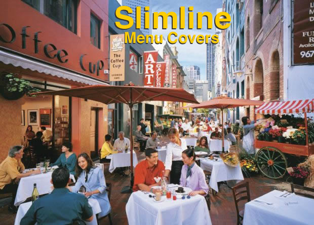 Slimline menu covers are the server's friend.