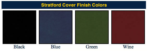 Stratford contemporary menu covers available colors.