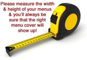 Measure your menus please before ordering.