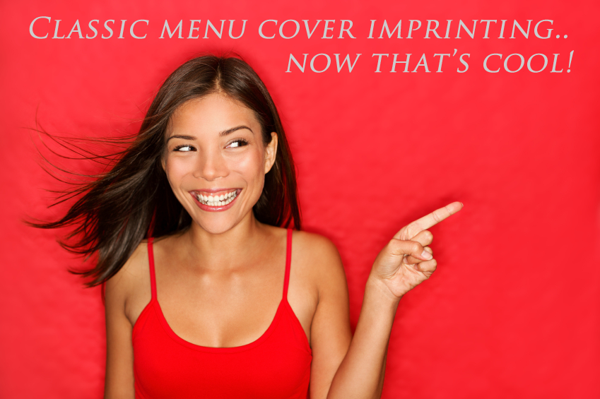 Free menu cover imprinting.. now that's cool!