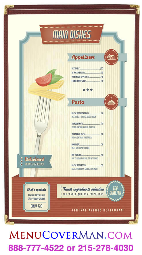 Simplicity boxstock menu covers are in stock, and last for years.