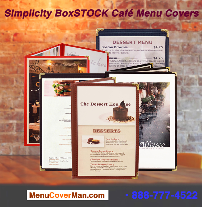 Simplicity BoxSTOCK restaurant cafe menu covers family portrait.